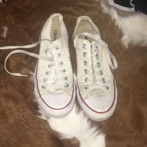 SOLD White converse shoes
